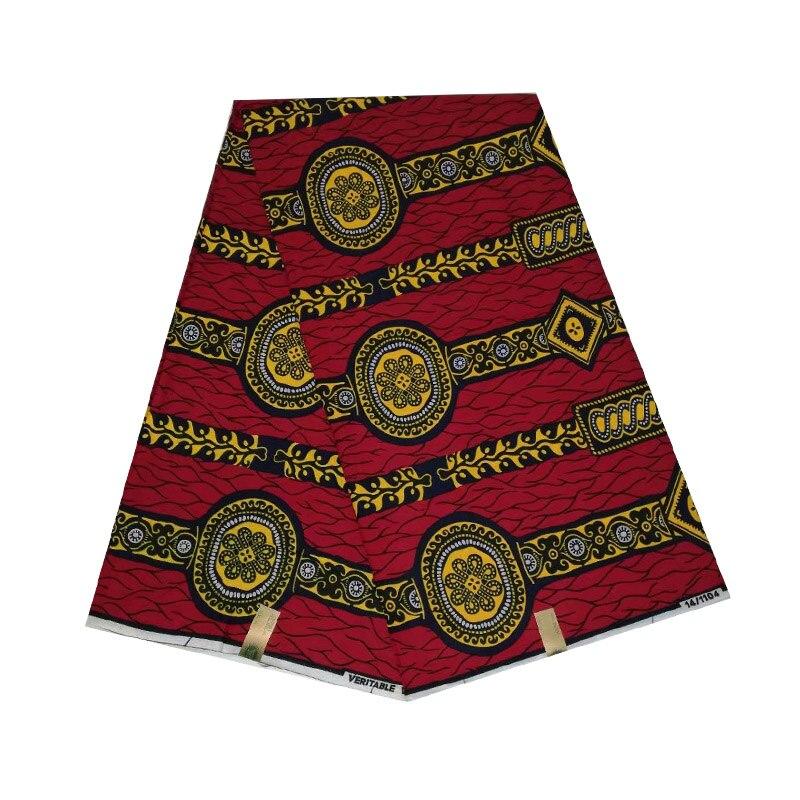 2019 la dernière conception Batik cire africaine femme néerlandais imprime en tissu coton 100% coton 6yards V-L 416