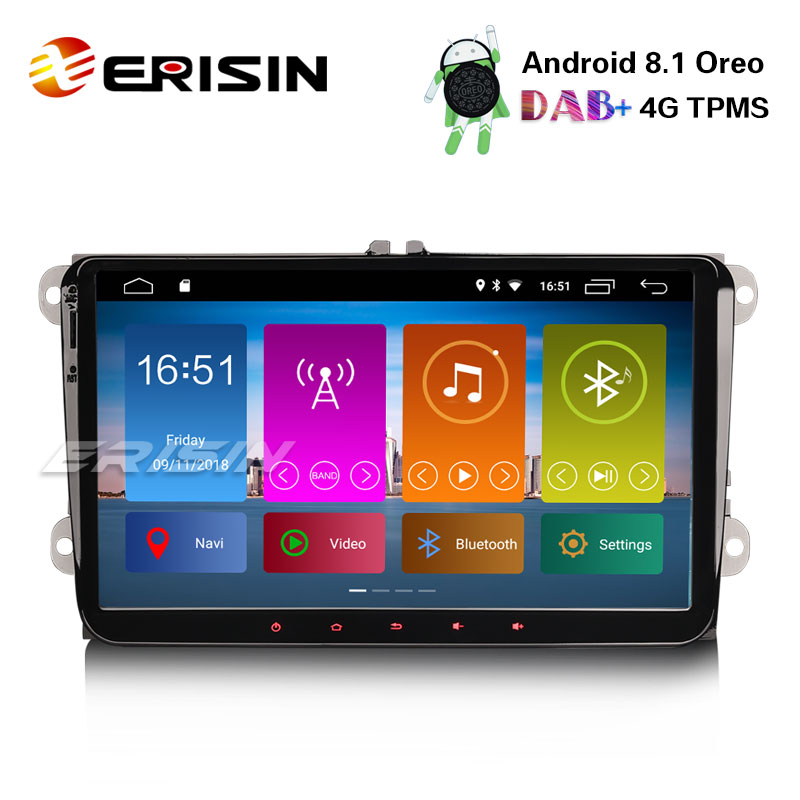 "Erisin ES2891V 9"" New Android 8.1 Car Stereo System GPS"