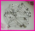 "200PCS silver finish 3# size 4.6cm 1.8"" plain Metal Safety Pins for hanging tags hijab pin,metal badge pins"