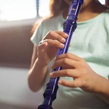 Eastar 8 Отверстие C ключ сопрано рекордер кларнет Немецкий Тип рекордер длинная флейта музыкальный инструмент для начинающих студентов фиолетовый