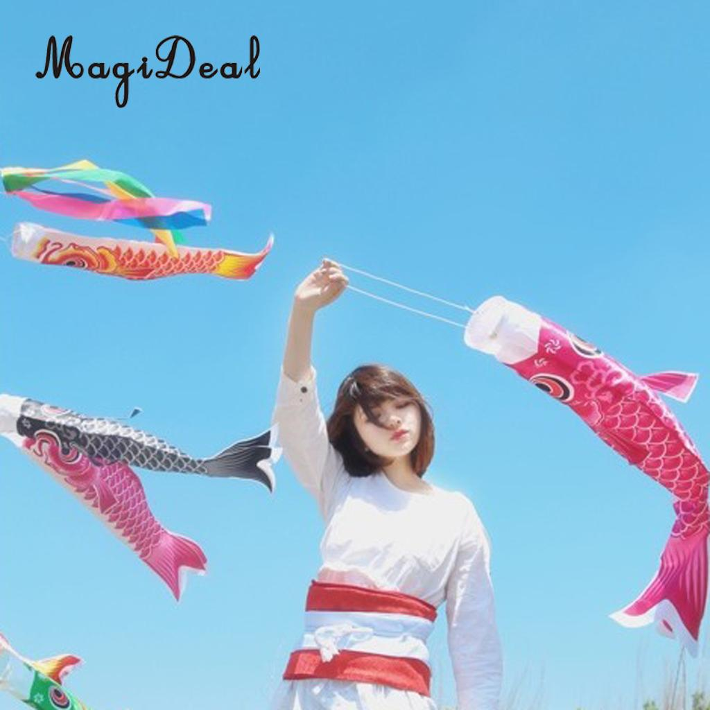 Rainbow Boys Day Windsock Carp Flag Koi Nobori Wind Streamer Kite Decor 50cm