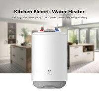 Оригинальный Xiaomi водонагреватель viomi Портативный электрический водонагреватель Fr Кухня Ванная комната 6.6L 1500 Вт IPX4 Водонепроницаемый