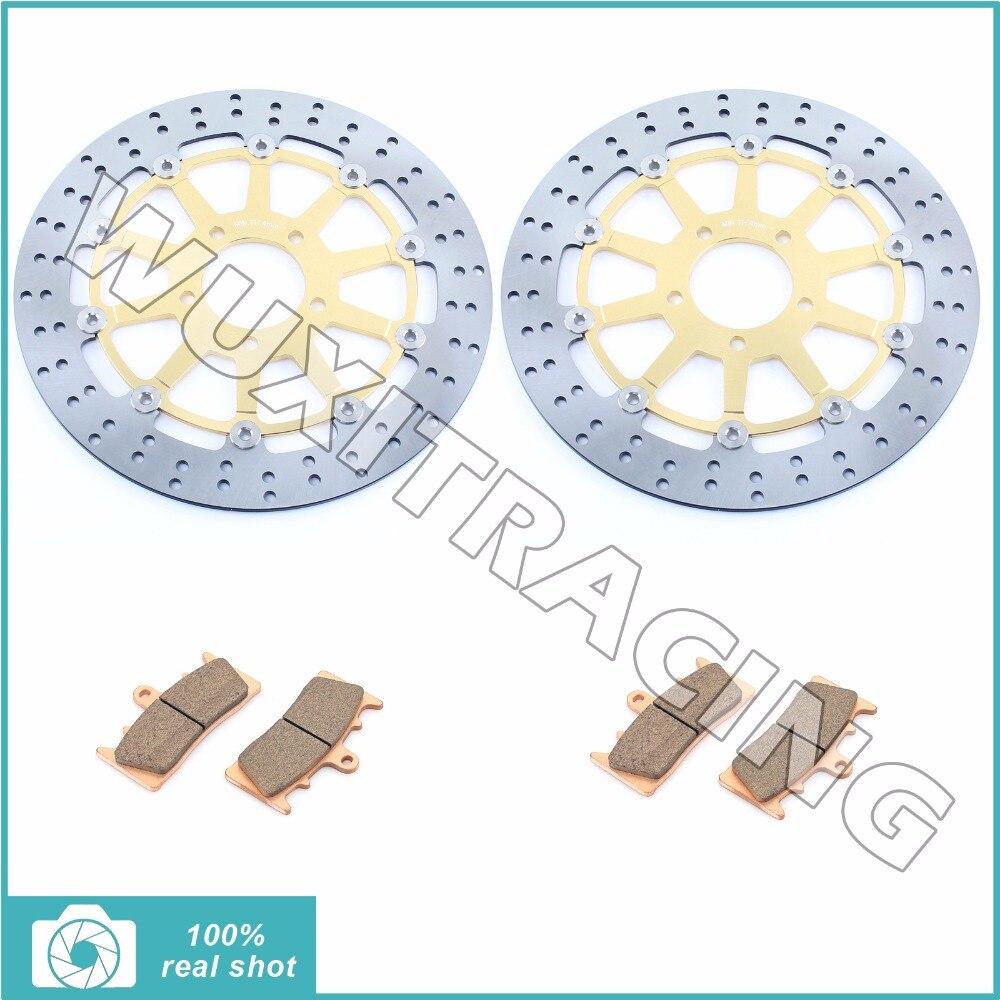 Front Brake Discs Rotors + Pads for SUZUKI GSXR 750 1000 1300 GSXR750 GSXR1000 GSX 1300 R 96-07 97 98 99 00 01 02 03 04 05 06