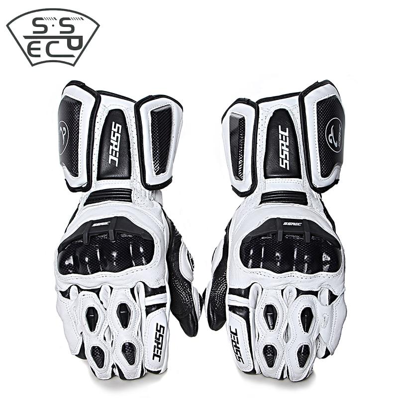 SSPEC Motorcycle Gloves Leather Carbon Fiber gloves Winter Warm Motorcycle gloves Waterproof Racing Gloves Motocross glvoes
