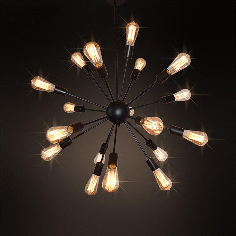 Industrial style sputnik pendant lights creative black iron e27 ...