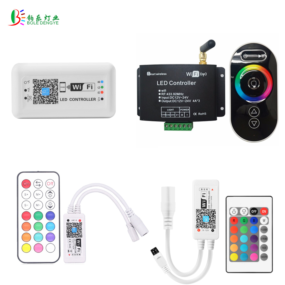 RGB LED WIFI Controller LED Strip WIFI Controler RGB RF IR Remote Touch Remote DC12V Smart Phone IOS Android Control футболка wearcraft premium slim fit printio 9 мая белая
