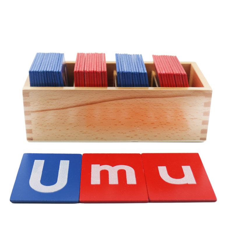 Montessori Matériaux Sensorielles Sable Papier Lettre Carte Montessori Jouet Éducatif 3 Ans En Bois Jouets Pour Enfants UC1766H - 3