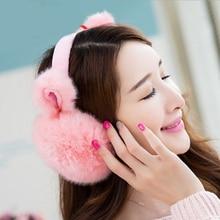 New Fashion Elegant Rabbit Winter Earmuffs For Women Warm Fur Earmuffs Lovely Ear Warmers Gifts For Girls Cover Ears Hot Sales