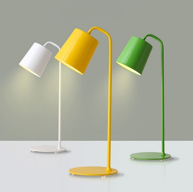 Nordic Modern Simple Desk Lamps Iron Eye Study Reading Work Led Table Lamp Creative Personality Office