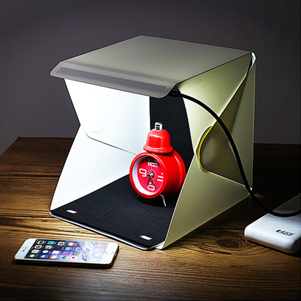 LED Portable Foldable Light box Portable Light Room Photo Studio Photography Backdrop Mini Cube Photography Studio Light Tent high quality portable mini photo studio box photography backdrop built in light photo box