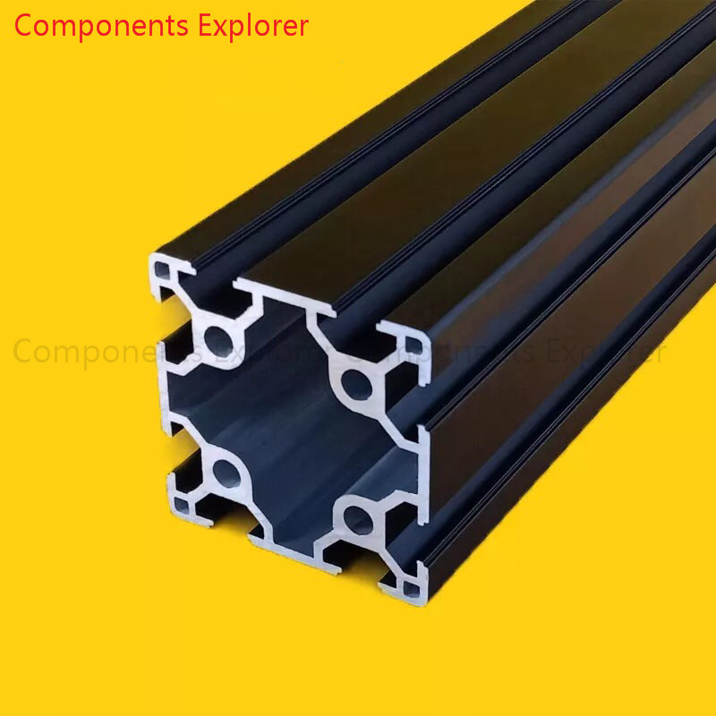 Arbitrary Cutting 1000mm 6060 Black Aluminum Extrusion Profile,Black Color.