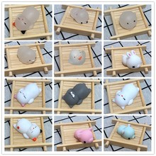 1/27 Styles Mini Change Color Squishy Cute Squishy Cat Mochi Squeeze Stretchy Kawaii Decompress squeeze Toy Squishy slow rising(China)