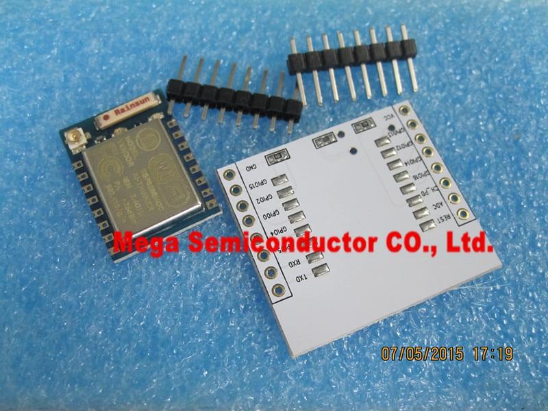 Serial WIFI ESP8266 module + adapter plate Full IO port leads (you can choose the ESP – 07, the ESP – 08, ESP – 12E)