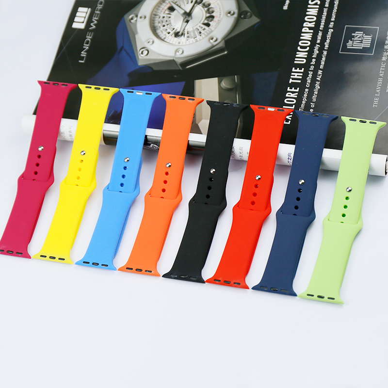 Watch accessories 38mm 42mm for Apple iwatch 234 generation silicone strap apple watch men and women two-color sports watch belt