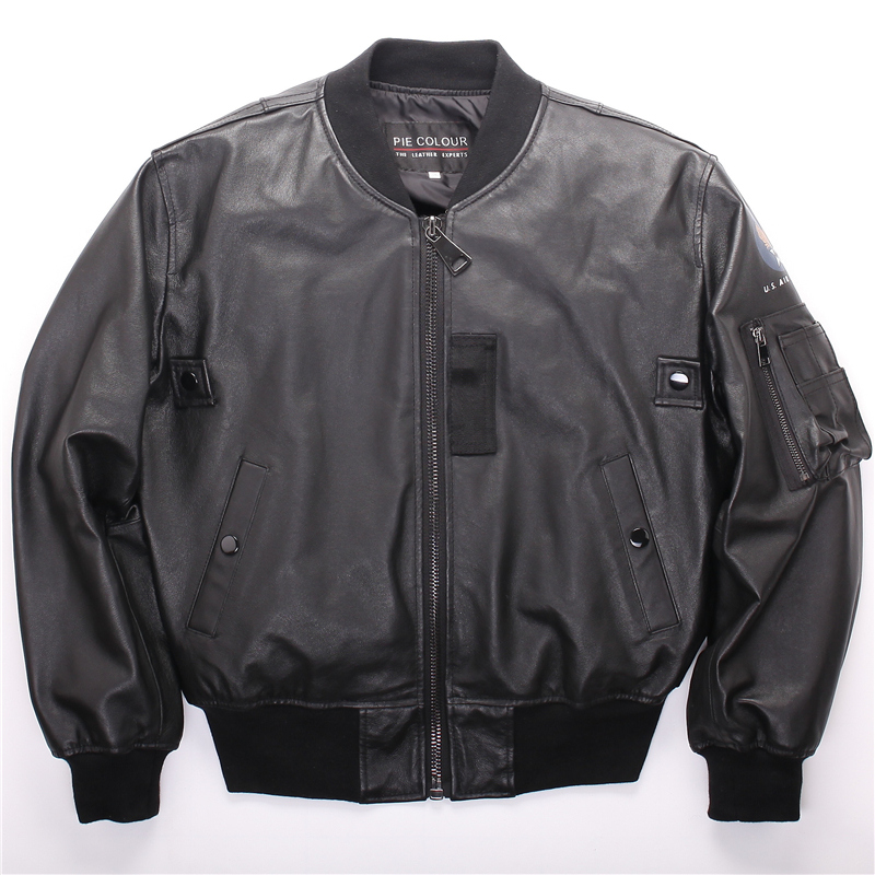 MA1 AF Flight Jacket US Army Military Pilot  Bomber Usaf Air Hip Hop Motorcycle Of Environmental Protection Leather  Mens  WOMen