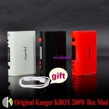 100% original kanger kangertech kbox 200/200 w caja mod potencia variable de control de temperatura traje mod para 18650 batería