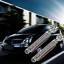 лучшая цена 2Pc/set car light Wind Energy No Need External Power Supply Car Daytime Running Lights 8 LED DRL Daylight led car Headlight Lamp
