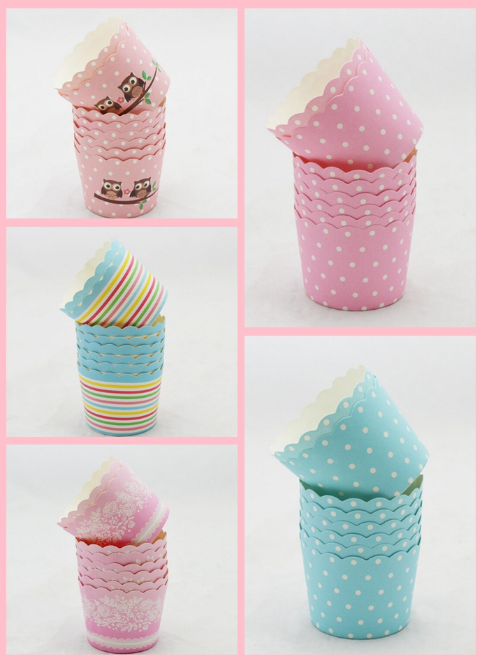 50Pcs Colorful Paper Cake Cup Oven Baking Tools Tray Liners Baking Cup Muffin Kitchen Cupcake Cases