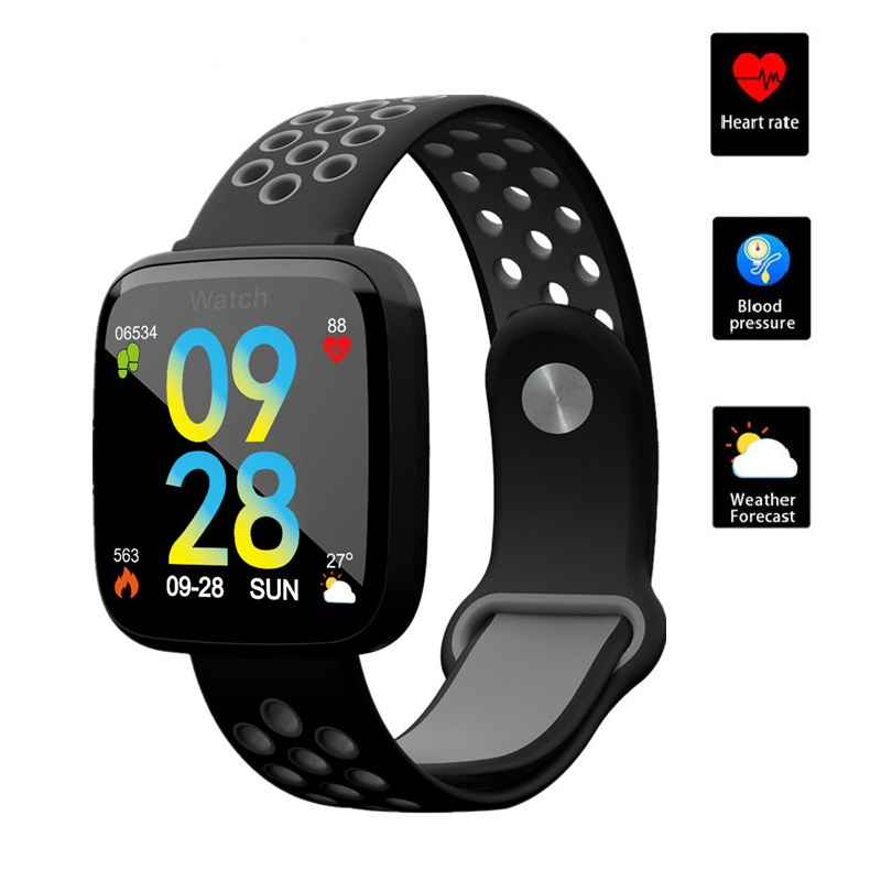 ONEVAN 1.3 inch Smart Watch Heart Rate Blood Pressure Blood Oxygen Monitor Fitness Bracelet Waterproof Wristband for Ios Android-in Smart Wristbands from Consumer Electronics