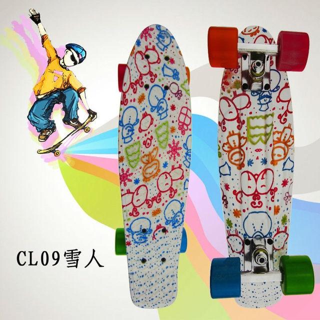 "Complete Peny Board 22"" Colorful Plastic Skateboard Boy Girl Mini Long Board Skate 6Types Available"