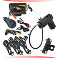 lcd car parking sensor system with auto brake feature auto recognized obstacles car camera monitor