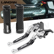 For YAMAHA YZF R6 2000 2001 2002 2003 2004 2005 2006 1999-2016 Motorcycle Accessories Brake Clutch Levers & handlebar handle bar cnc long brake clutch levers for yamaha yzf r6 1999 2000 2001 2002 2003 2004 r1 2002 2003 r6s fz1 fazer