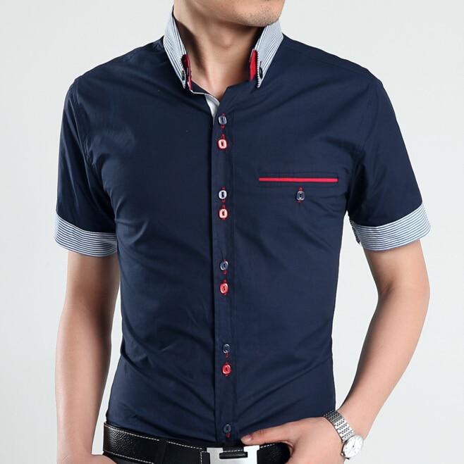 Para hombre de manga corta para hombres Camisa Casual Slim