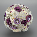 2016 Luxury Purple Artifical Bouquets Wedding WEDDING FLOWER BALL With Crystals Rhinestone Bridal Accessory For Formal Party