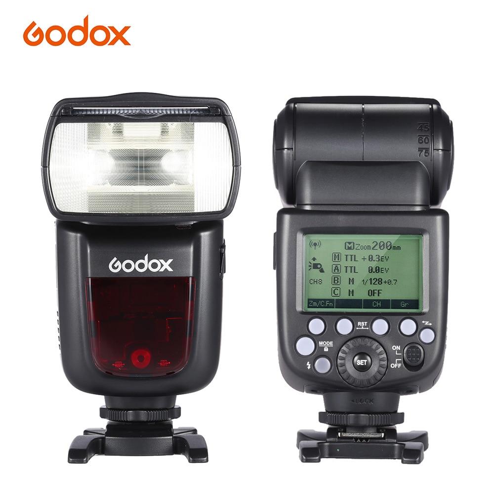 Godox V860II-C E-TTL 1/8000 S HSS GN60 Mestre Escravo Speedlite Flash Embutido 2.4G Sem Fio Sistema X para canon 1DX/5D Mark III Cam