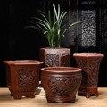 Paarse Klei Bloempotten Bloempotten Vetplanten Bonsai Macetas Klassieke Bloem Clivia Potten Ongeglazuurde Keramische Bonsai Potten