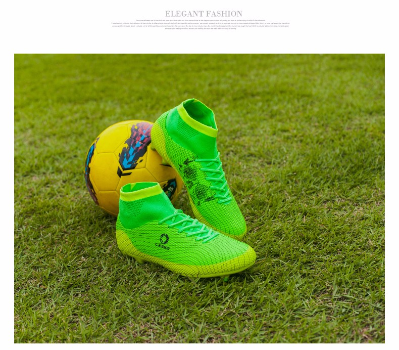 2017 High Ankle Kids Football Boots Superfly Original Cheap Indoor Soccer Football Shoes Cleats Boys Girls Sneakers High Quality 4