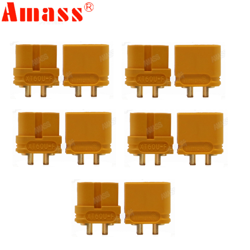 10 X AMASS XT60U XT60 Upgrade Plug Connector With 3.5mm Gold Plated Banana Plug (5 Pair )