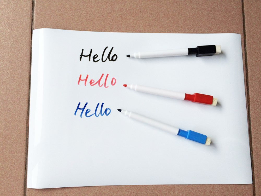 Image 5 - 148mmx210mm Magnetic Dry wipe Whiteboard Kitchen Fridge Magnets Marker Pens Eraser Message White Board Memo Pad Fridge Sticker-in Fridge Magnets from Home & Garden