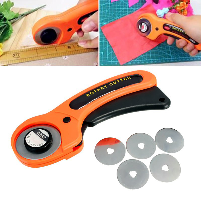 NEW 45mm Rotary Cutter Premium Quilters Sewing Quilting Fabric Cutting Craft Tool