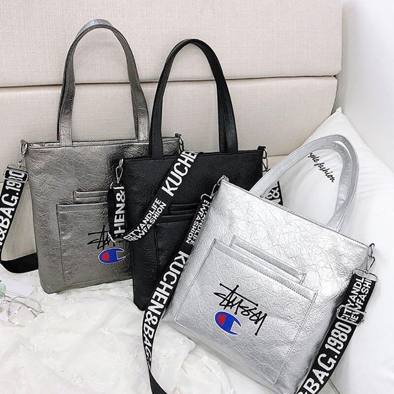 c26ac3f043 Borse Del 2 Spalla Progettista Bag Lettera Femminile Cuoio Crossbody  Superiore Lusso Spessa Larga Della Catena ...