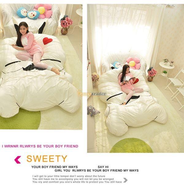 Fancytrader 270cm X 160cm Giant Soft Plush Stuffed Double Size Rabbit Bunny Mattress Carpet Tatami Bed, FT50680 (3)