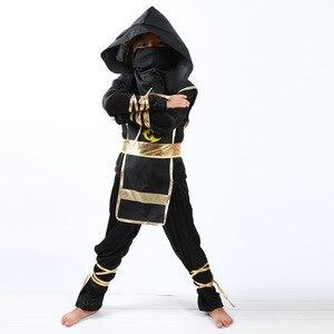 Image 4 - 검은 소년 Ninjago 제복 아이 옷 세트 아이들을위한 할로윈 의상 크리스마스 멋진 파티 드레스 닌자 의상 정장