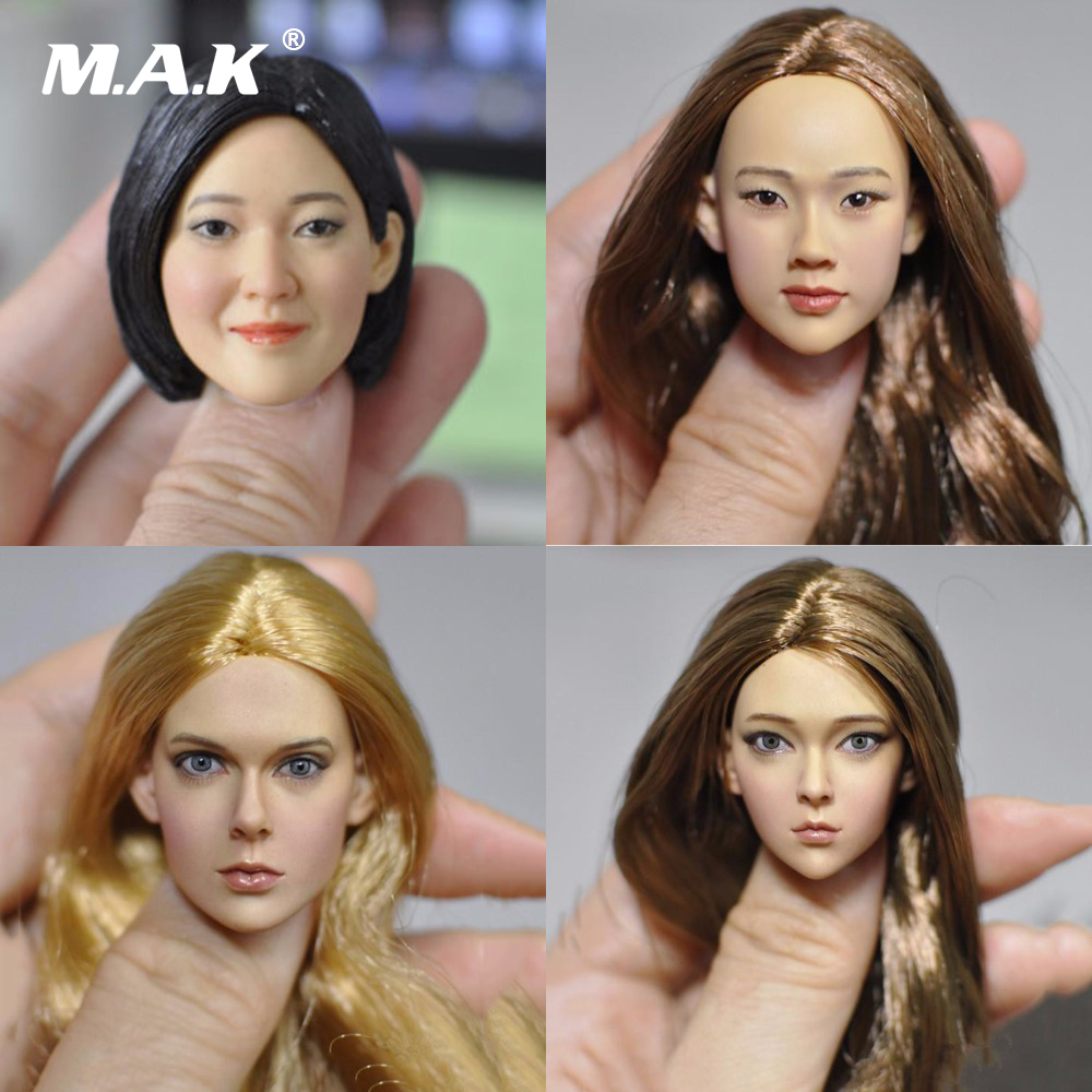 New hot 1/6 Scale 16-86 83 84 85 sculpt female European Asian beauty  hair Head Carving For 12PH Action Figure Accessories рецептура 902 ту 6 05 1587 84