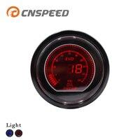 CNSPEED 52mm Car EVO Digital Turbo Boost Gauge Psi Meter Sensor Blue LCD Turbo Boost Meter Turbo Pressure Boost gauge YC101031
