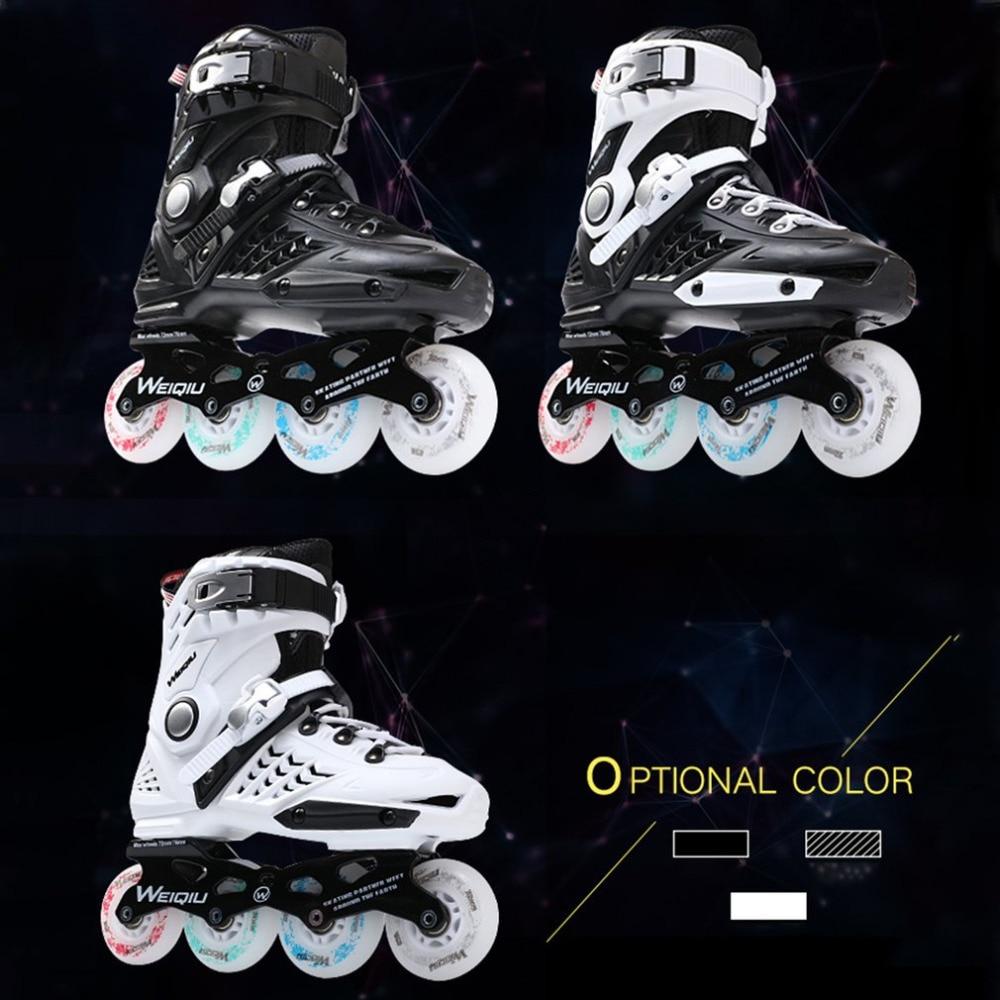 Unisex Multi Colors Professional Skates Shoes Fancy Single-row Roller Skates Adult Inline Skates Universal Skating Rink unsex multi colors professional skates shoes fancy single row roller adult inline universal skating rink skates