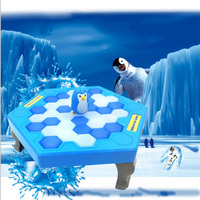 Funny Save The Penguins Broken Mesa Dismantles Wall Children Toys Beat Penguin Board Game Parent Child
