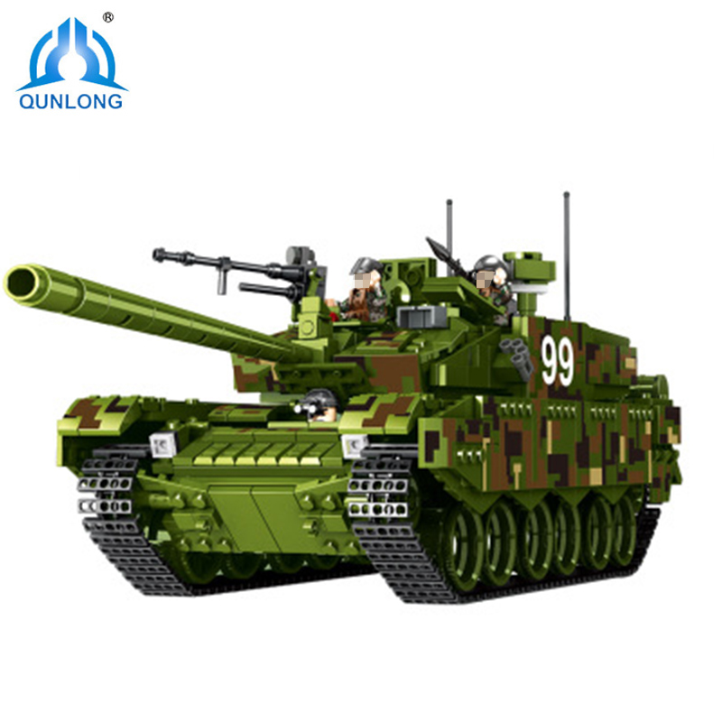 Qunlong World War 2 Military Tank The Battle Dolls Model Building Blocks Figure Toys For Children Compatible Blocks Kids Gifts kaygoo building blocks aircraft airplane ship bus tank police city military carrier 8 in 1 model kids toys best kids xmas gifts