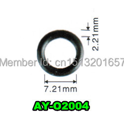 free shipping 1500piecesGood quality o-rings viton injector repair kit  seals for honda (AY-O2004,7.21*2.21mm) 10pcs 75mm outside dia 2mm thickness industrial rubber o rings seals