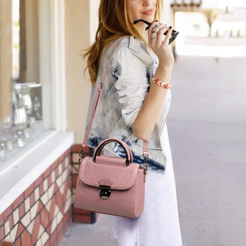 Viney 가방 소녀 2019 새로운 정품 가죽 가방 핸드백-에서탑 핸드백부터 수화물 & 가방 의  그룹 1