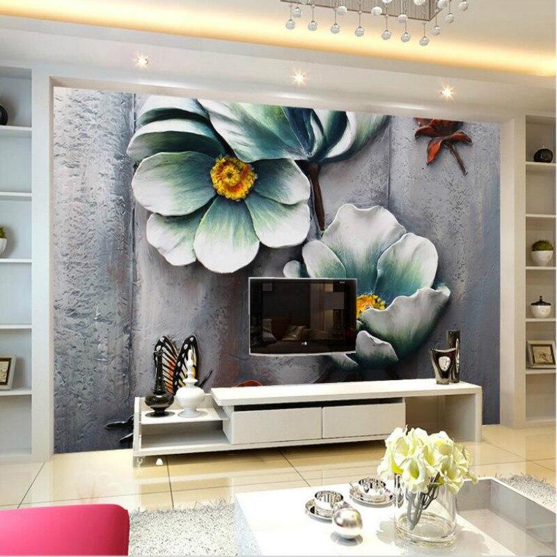 цена на Floral relief background wall 3D wallpaper custom home improvement 3d wall paper rolls wallpaper for walls 3d mural background
