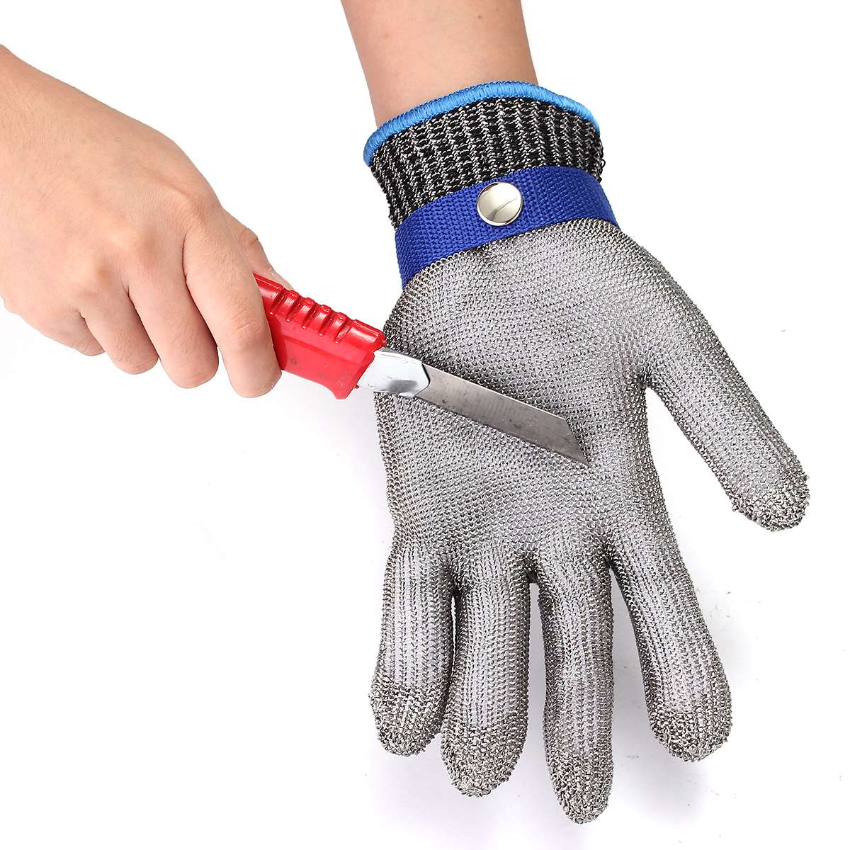 Size S Safety Cut Proof Stab Resistant Stainless Steel Wire Metal Mesh Glove High Performance Level 5 Protection 1pcs safety gloves cut proof stab resistant stainless steel wire metal mesh butcher anti knife