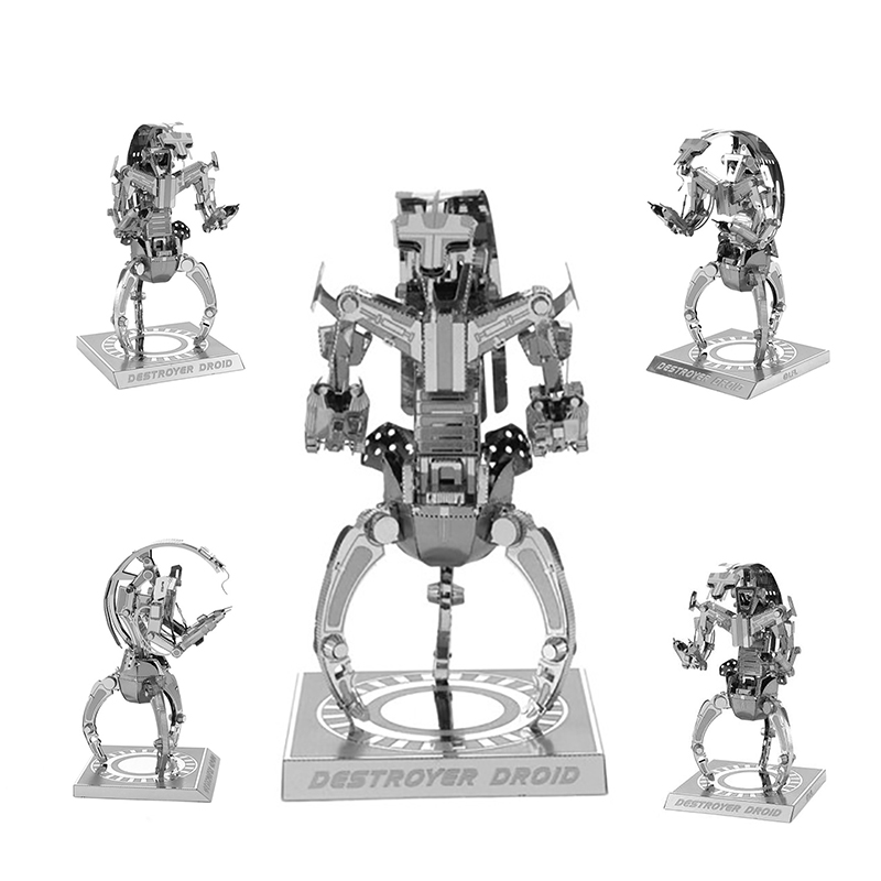 2017 <font><b>Star</b></font> <font><b>Wars</b></font> 3D Metal Puzzles Laser Cut Jigsaws DIY Metal Model <font><b>Star</b></font> <font><b>Wars</b></font>: <font><b>Episode</b></font> <font><b>II</b></font> - Attack of the Clones Destroyer Droid
