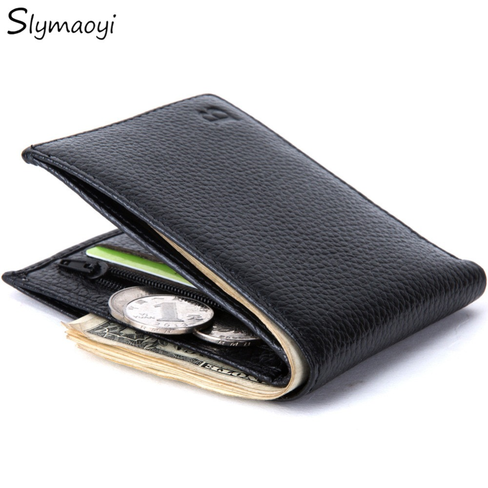 Genuine Leather Men Wallets Famous Brand Wallets with Coin Pocket Thin Purse Card Holder for Men Fashion Slim Wholesale Price hot sale 2015 harrms famous brand men s leather wallet with credit card holder in dollar price and free shipping