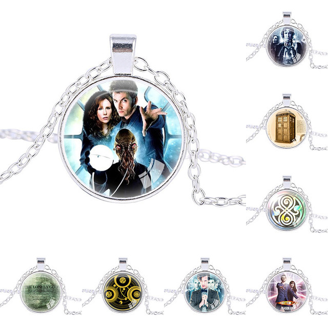 Doctor Who Jewelry Time Lord Necklace Gallifreyan Necklace Symbol Dr