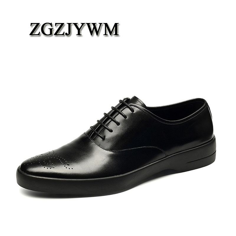ZGZJYWM Breathable Mens Business Lace-Up Black/Red/Brown Pointed Toe Formal Dress Genuine Leather Wedding Oxfords Office ShoesZGZJYWM Breathable Mens Business Lace-Up Black/Red/Brown Pointed Toe Formal Dress Genuine Leather Wedding Oxfords Office Shoes